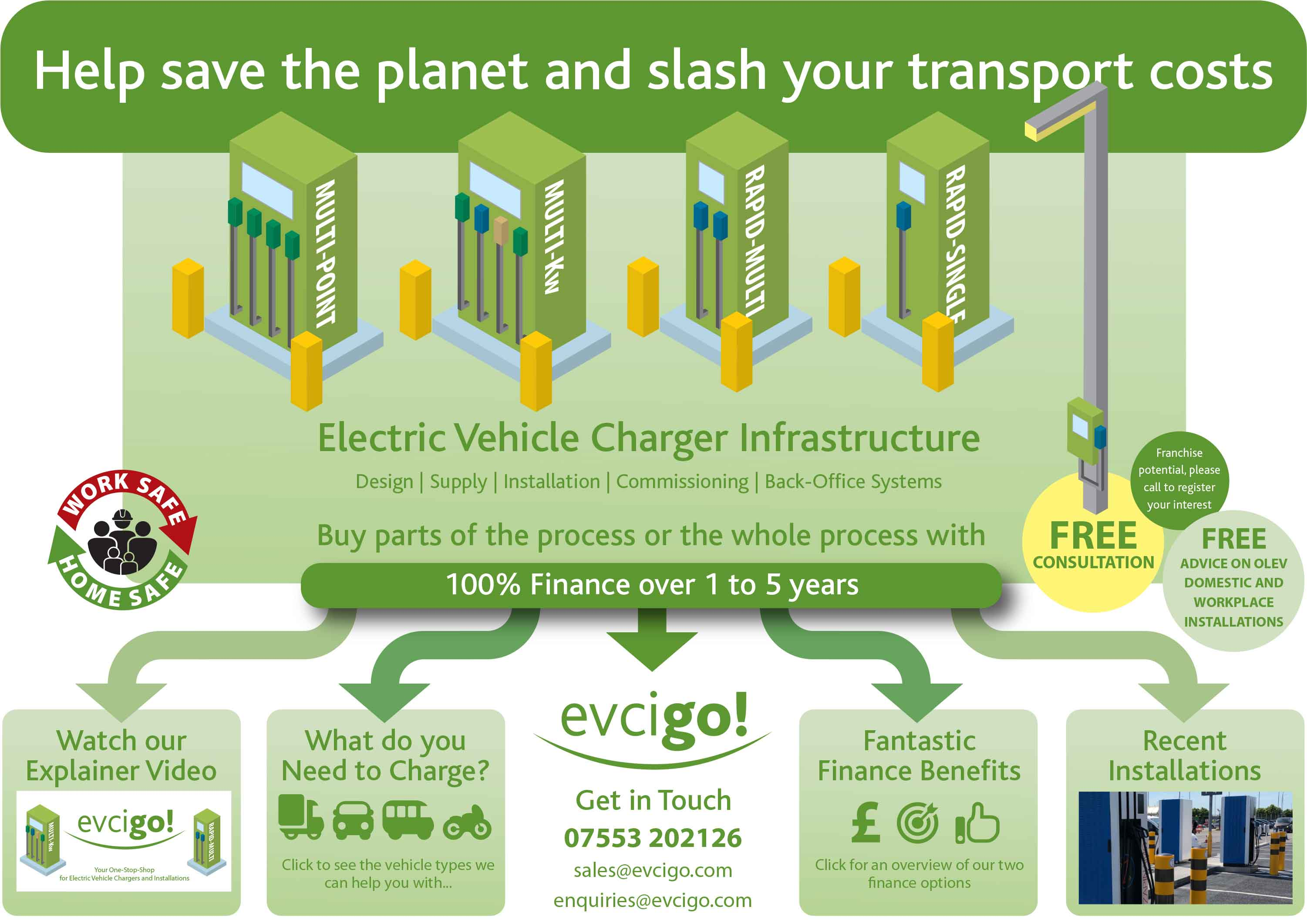 evcigo Electrical Vehicle Charger Installations